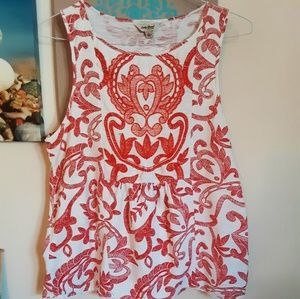 Lucky Brand boho sleeveless top.